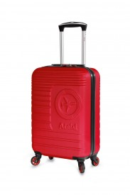 valise cabine aerial 55cm rigide 4 roues pour ryanair easyjet rouge