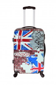 Valise rigide 4 roues grande taille motif London