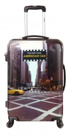 Valise rigide 4 roues motif New-York Taxi