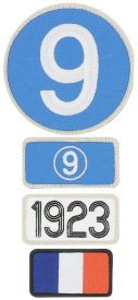 Patchs brodés 24H Le Mans - 1923 -Pack of 4 patches to the colour of the winning car of Le Mans 24H - 1923