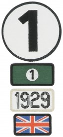Patchs brodés 24H Le Mans - 1929 - Pack of 4 patches to the colour of the winning car of Le Mans 24H - 1929