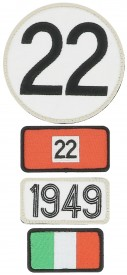 Patchs brodés 24H Le Mans - 1949 - Pack of 4 patches to the colour of the winning car of Le Mans 24H - 1949