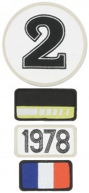 Patchs brodés 24H Le Mans - 1978 - Pack of 4 patches to the colour of the winning car of Le Mans 24H - 1978