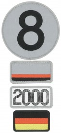 Patchs brodés 24H Le Mans - 2000 - Pack of 4 patches to the colour of the winning car of Le Mans 24H - 2000