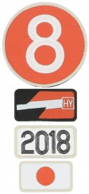 Patchs brodés 24H Le Mans - 2018 - Pack of 4 patches to the colour of the winning car of Le Mans 24H - 2018