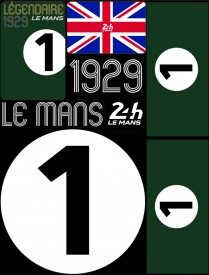 Planche de 72 autocollants 24H Le Mans 1929 - Pocket composed of 5 sheets or 72 printed PVC stickers, removable. Le Mans 24h design