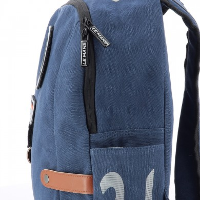24H Le Mans - Sac à dos coton bleu style vintage - H24 legende - Backpack - Cotton - Blue -