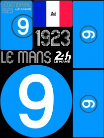 Planche de 72 autocollants 24H Le Mans 1923 - Pocket composed of 5 sheets or 72 printed PVC stickers, removable. Le Mans 24h design